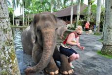 象さんと記念撮影