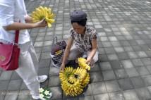「バリ島現地観光ツアー情報」バナナ売りのおばさん・・・・・・・