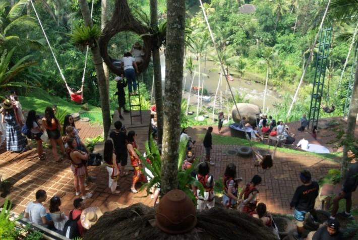 newバリ島【ウブド】超絶景アユンリバーサイドでランチ Bali Swing(ランチ/ディナー付き)(バリニーズマッサージ1時間付き)