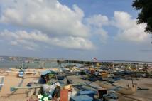 ジンバラン魚市場の朝の風景
